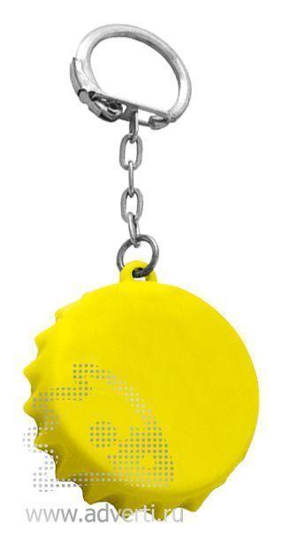 Брелок-рулетка «Пробка», желтый