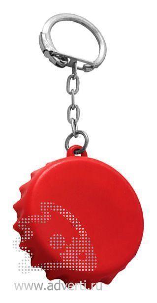 Брелок-рулетка «Пробка», красный