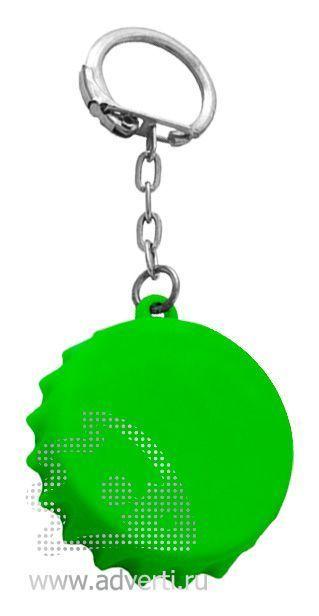 Брелок-рулетка «Пробка», зеленый
