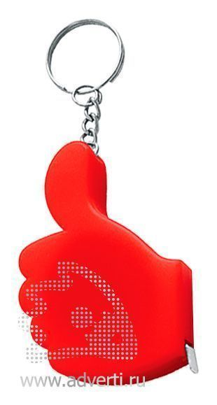 Брелок-рулетка «Yes», красный