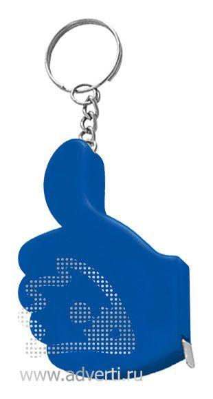 Брелок-рулетка «Yes», синий