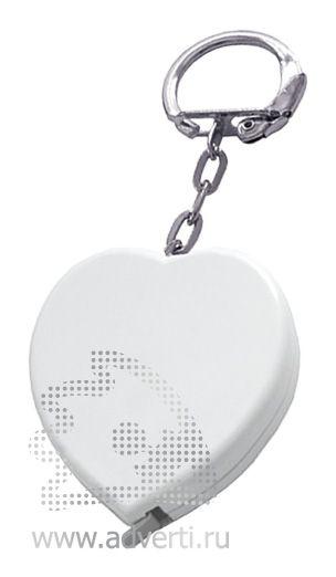 Брелок-рулетка «Сердце», белый