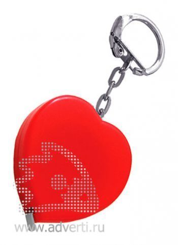 Брелок-рулетка «Сердце», красный