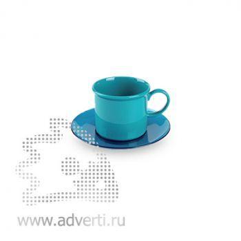 Пластиковые чайные пары, голубые