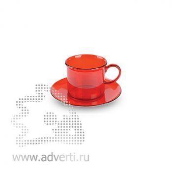 Пластиковые чайные пары, красные