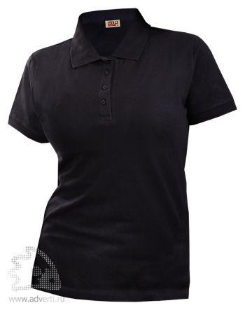 Рубашка поло LEELA «QUEEN» женская, черная