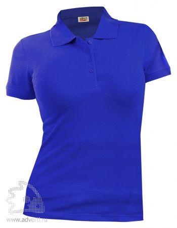 Рубашка поло LEELA «QUEEN» женская, синяя