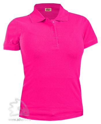 Рубашка поло LEELA «QUEEN» женская, ярко-розовая