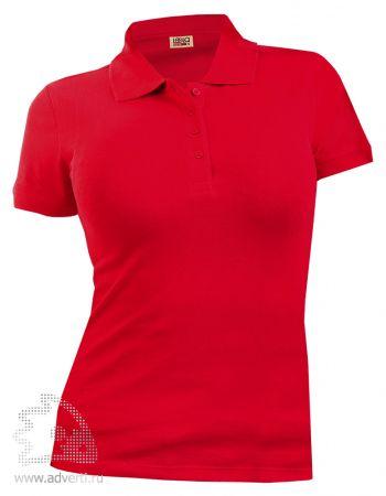Рубашка поло LEELA «QUEEN» женская, красная
