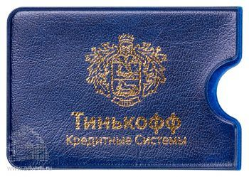 Чехол для пластиковых карт из эко-кожи «Финга», синий