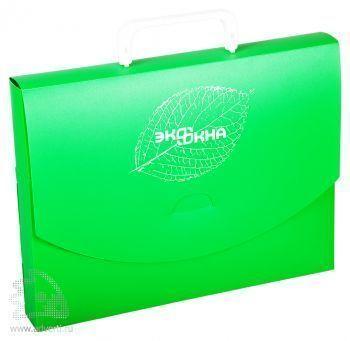 Пластиковый портфель для документов с клапаном (без замка)
