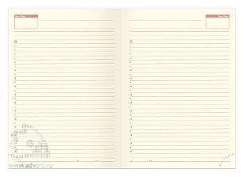 Внутренний блок недатированного ежедневника-портфолио А5 (145х205 мм)