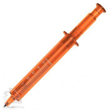 Ручка шариковая «Шприц», оранжевая