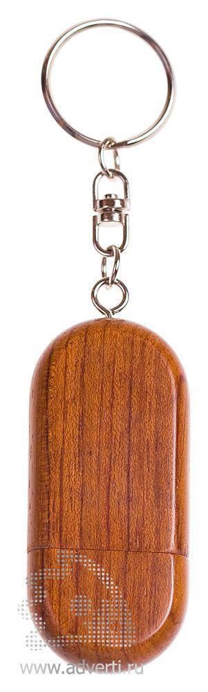 Деревянная флешка «Промо-1», темно-коричневая