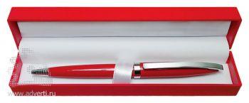Ручка шариковая в футляре PR-035, красная