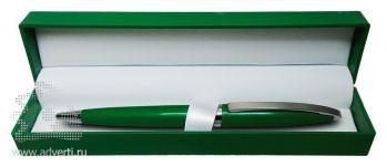 Ручка шариковая в футляре PR-035, зеленая