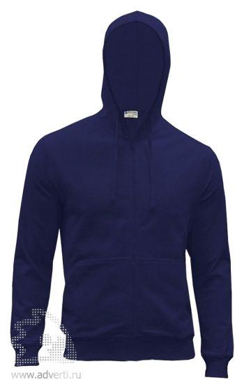 Куртка-толстовка с капюшоном «Red Fort Forano», темно-синяя