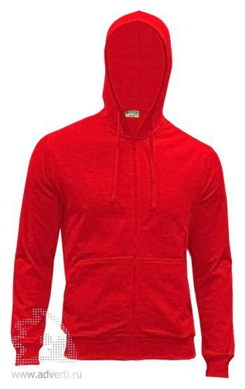 Куртка-толстовка с капюшоном «Red Fort Forano», красная