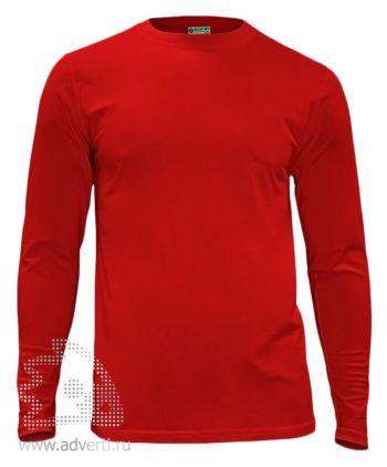 Футболка «Red Fort Man», мужская с длинным рукавом, красная