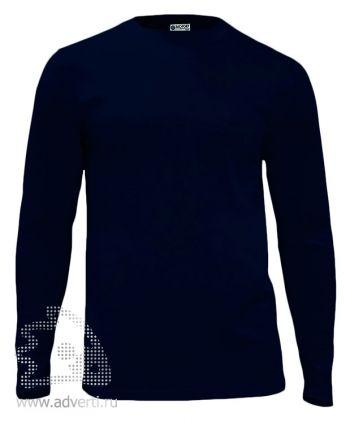 Футболка «Red Fort Man», мужская с длинным рукавом, темно-синяя