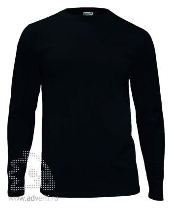 Футболка «Red Fort Man», мужская с длинным рукавом, черная
