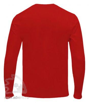 Футболка «Red Fort Man», мужская с длинным рукавом, красная, спина