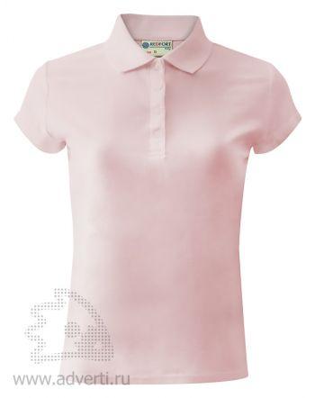 Рубашка поло «Red Fort», женская, светло-розовая