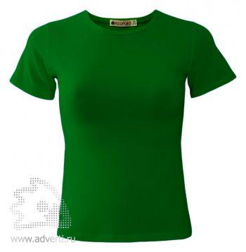 Футболка «Red Fort Lady», женская с коротким рукавом, зеленая