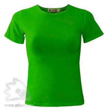 Футболка «Red Fort Lady», женская с коротким рукавом, светло-зеленая