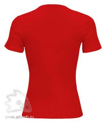 Футболка «Red Fort Lady», женская с коротким рукавом, красная оборот