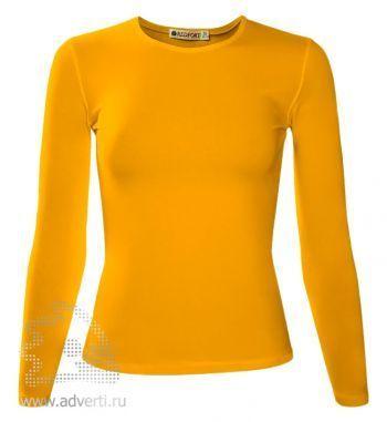 Футболка «Red Fort Lady», женская с длинным рукавом, желтая
