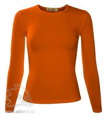 Футболка «Red Fort Lady», женская с длинным рукавом, оранжевая