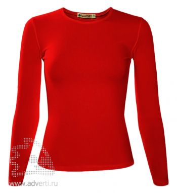 Футболка «Red Fort Lady», женская с длинным рукавом, красная