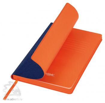 Ежедневник недатированный А5, Portobello Trend River side, синий с оранжевым