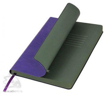 Ежедневник «River Side», фиолетовый/зеленый