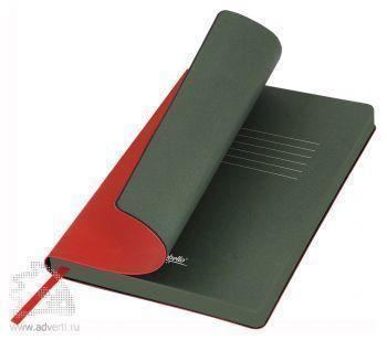 Ежедневники «River Side», красный/зеленый