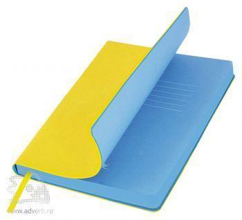 Ежедневники «River Side», желтый/голубой