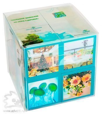 Кубик трансформер с магнитами, упаковка в прозрачную коробку