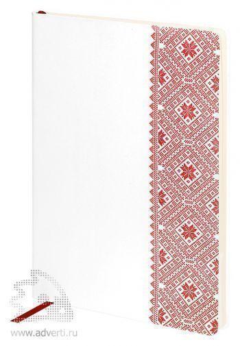 Ежедневник «Russia», белый с красным