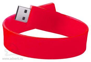 Силиконовый браслет «Promo», красный