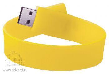 Силиконовый браслет «Promo», желтый