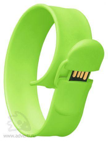 Браслет «Slap wrist», светло-зеленый