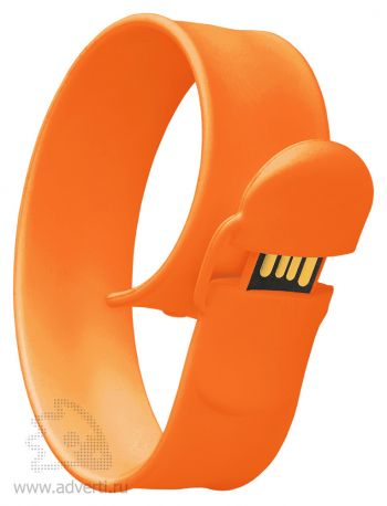 Браслет «Slap wrist», оранжевый