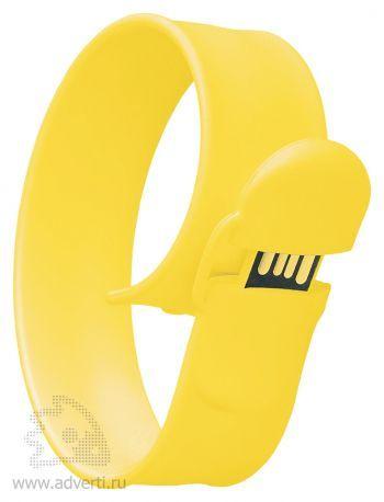 Браслет «Slap wrist», желтый