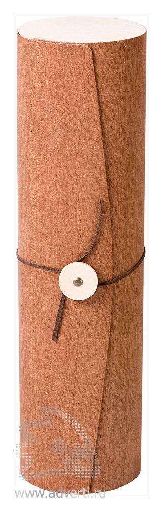 Тубус из шпона дерева сапеле