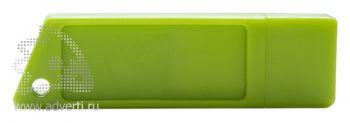 Флеш-память «Silikon Saw», светло-зелёная
