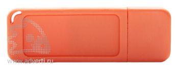 Флеш-память «Silikon Gum», оранжевая