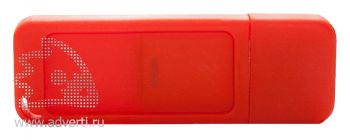 Флеш-память «Silikon Gum», красная