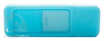 Флеш-память «Silikon Gum», голубая