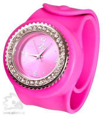 Часы Slap On Watch со стразами, розовые